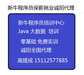 新牛程序员Java培训中心诚招招生代理